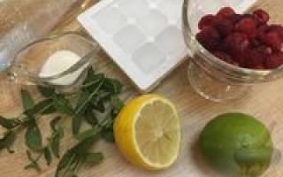 Коктейль Raspberry Mojito Мохито малиновый