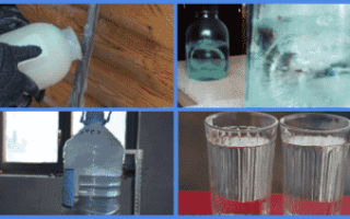 Особенности вымораживания браги и самогона