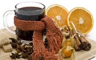 Глинтвейн при простуде, кашле и ангине