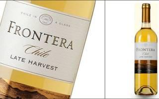 Обзор белого и красного вина Frontera