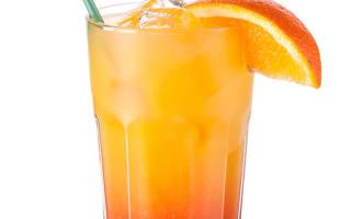 Коктейль Tequila Sunrise Текила санрайз